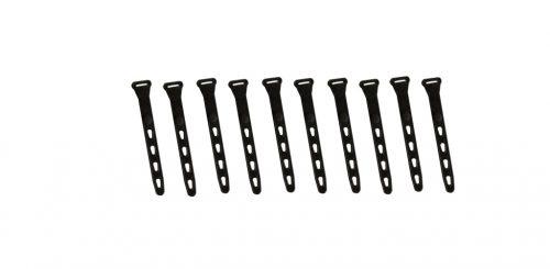 Attaches 5 pouces noir (10 par paquet)