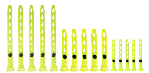 Trio 15 attaches 5x (5-8-14 pouces) Jaune